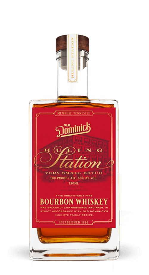 Hulling Station Bourbon Whiskey bottle
