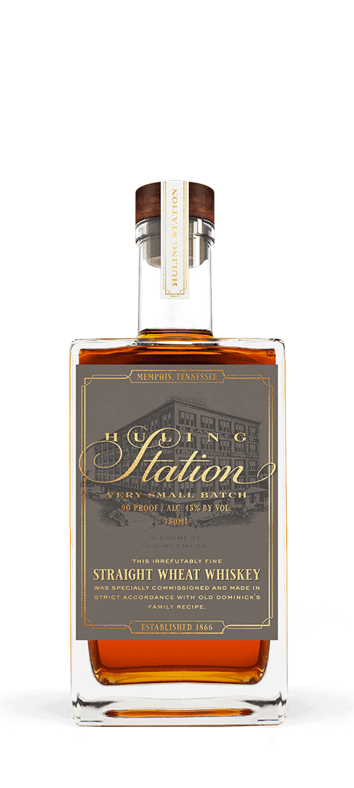 Bottle of Huling Station Wheat Whiskey